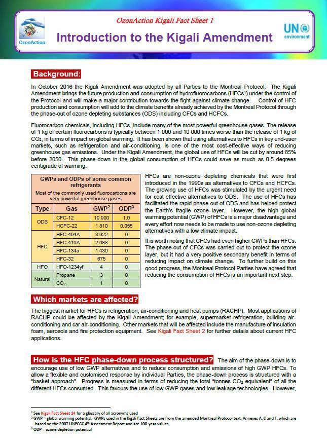 Kigali Fact sheets